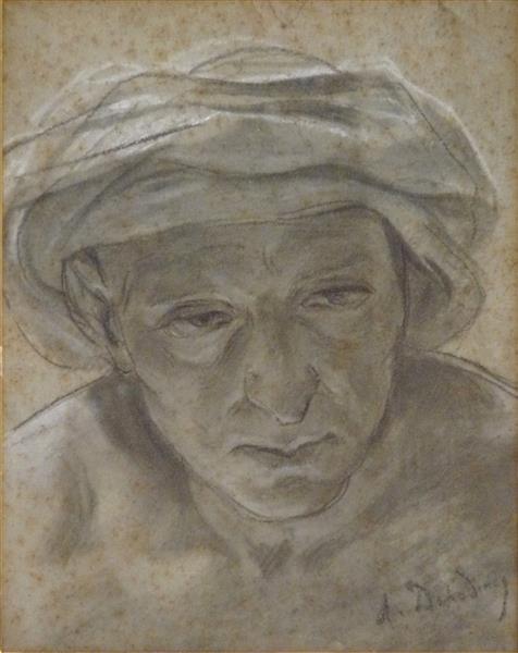Portrait D'oriental - Alfred Dehodencq