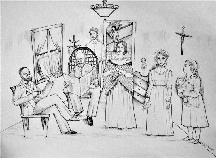 A família de Dom Casmurro, 2019 - Lilian Greisse