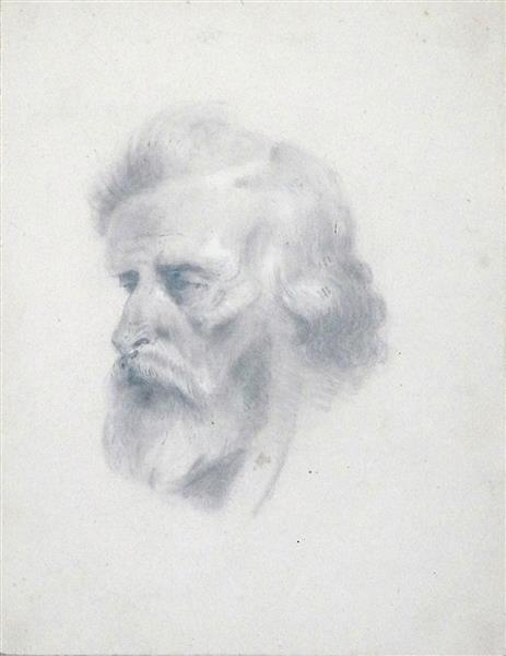 Tête de Vieillard, 1845 - Nicolas Toussaint Charlet