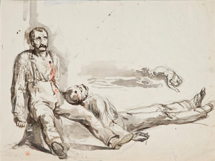 Deux Soldats Blessés - Charlet