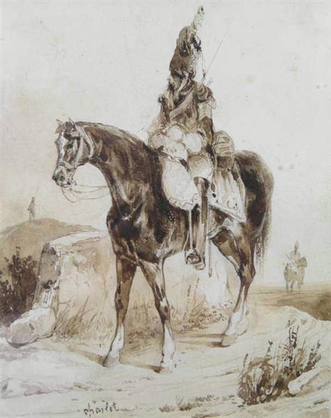 Grenadier de la Gardeen Sentinelle - Charlet