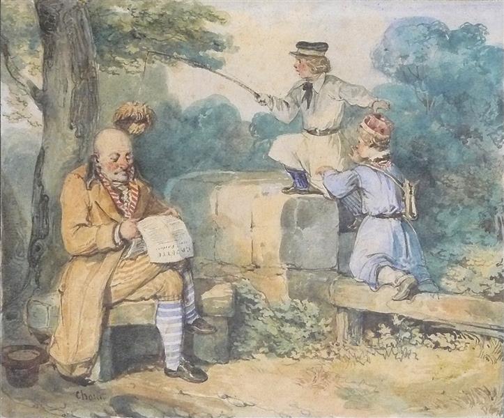 La Pêche à La Perruque - Nicolas Toussaint Charlet