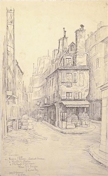 Paris, Carrefour Près Saint Germain Des Prés, des rues de l'Abbaye, Cardinal Lemoine, de Bourbon le Château, et de l'Echaudé St Germain - Fernand Combes
