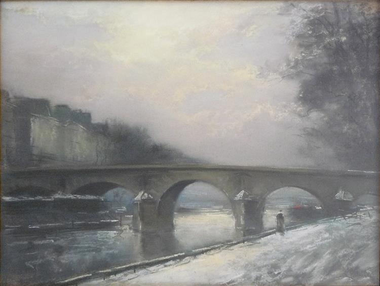 Paris, Le Pont Marie, l'hiver - Pierre-Jacques Pelletier