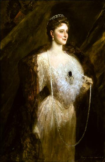 Portrait of the Empress Alexandra Fyodrovna - Benjamin Constant