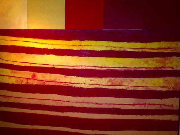 """""""New Spanish Flag"""", 7-sets, ca. 154 cm x 164 cm, Oil on canvas, 2005 - 2007 - Karl von Monschau"""
