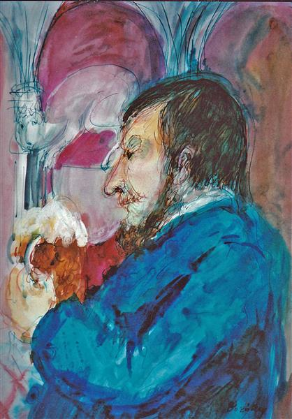 In a Czech Beerhouse, c.1994 - Maria Bozoky