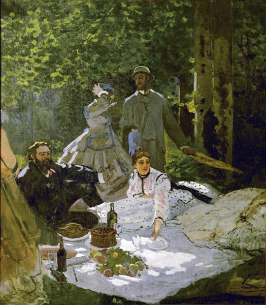 Le Déjeuner sur l'herbe, 1865 - 1866 - Claude Monet