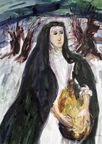 Saint Margaret at the Rabbits Island, 1992 - Maria Bozoky