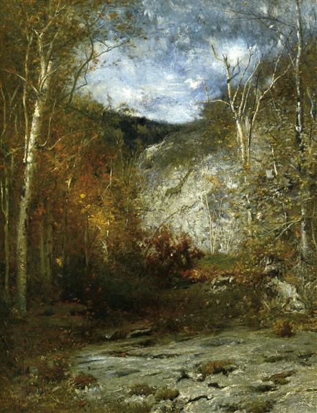 Adirondack Ledge and Rocky Ledge, Adirondacks, 1888 - Alexander Helwig Wyant