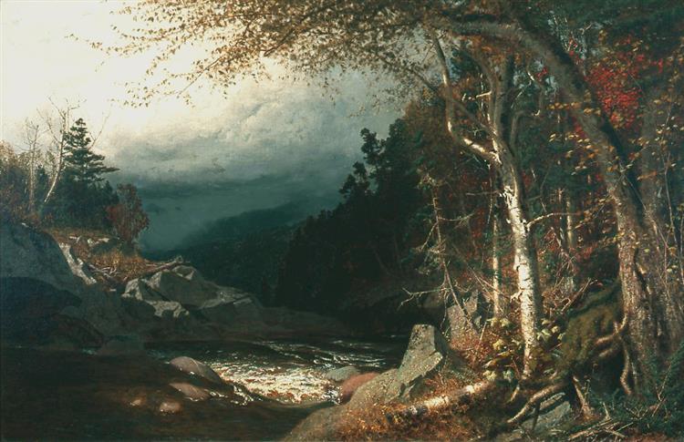 Mountain Torrent, Autumn, Adirondacks, 1873 - Alexander Helwig Wyant