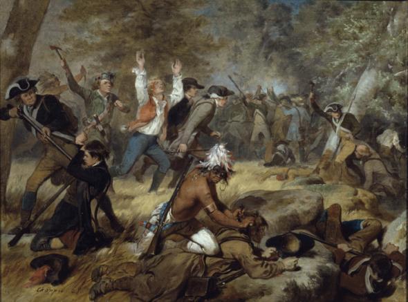 The Wyoming Massacre, July 3, 1778 - Alonzo Chappel