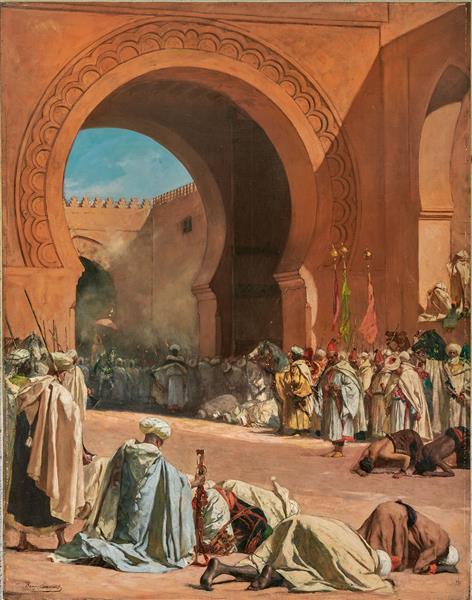 The King of Morocco Leaving to Receive a European Ambassador - Benjamin Constant