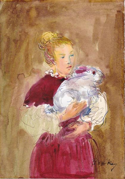 Two Little Contessas, 1993 - Maria Bozoky