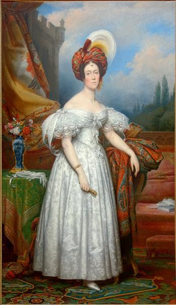 La Marquise Charles de Bethisy, née Adèle-Mathilde-Emmanuelle de Guernonval D'esquelbecq - Charles de Steuben