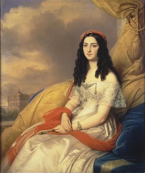 Portrait of Countess D'ash, 1844 - Charles de Steuben