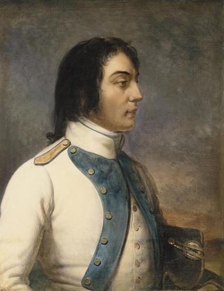 Louis-Charles-Antoine Desaix en Uniforme de Capitaine au 46e Régiment De Ligne en 1792 - Charles de Steuben