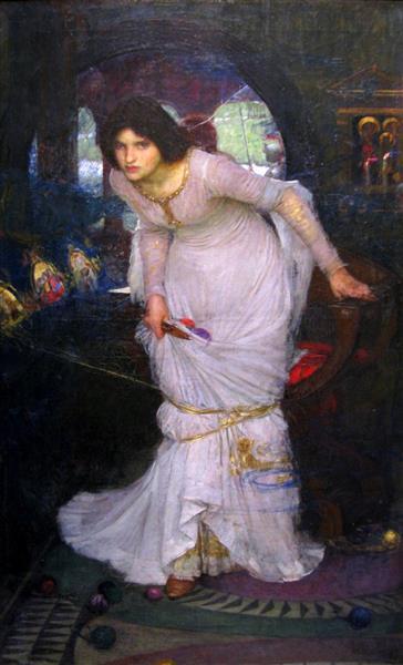 The Lady of Shalott Looking at Lancelot, 1894 - John William Waterhouse