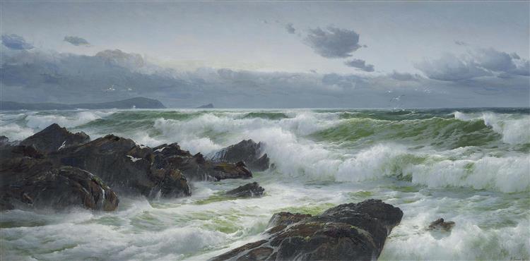 Fistral Bay, Cornwall, Evening, 1896 - David James