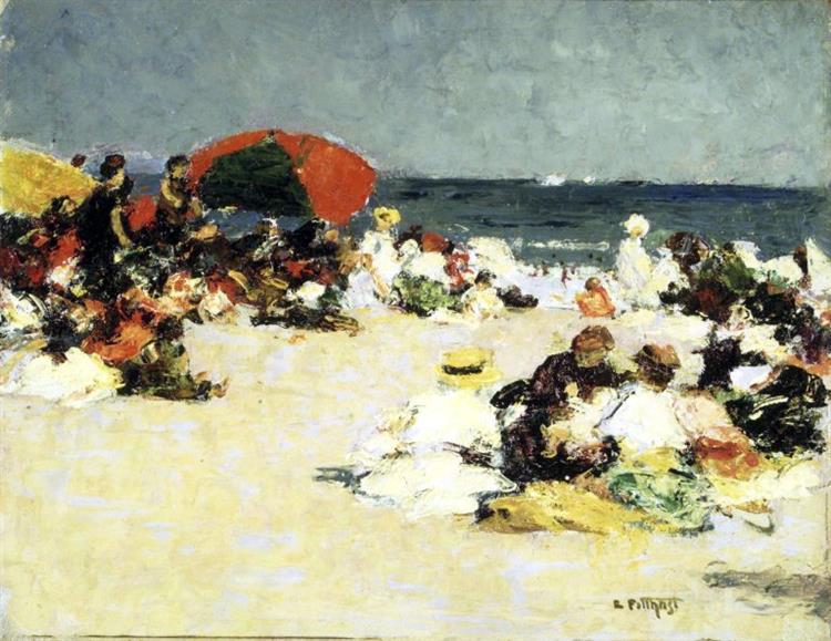 On the Beach - Edward Henry Potthast