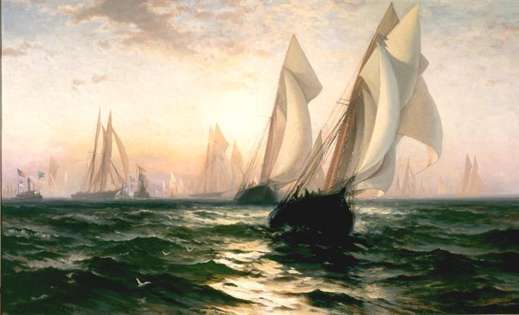 Livonia V Genesta, 1885 - Edward Moran