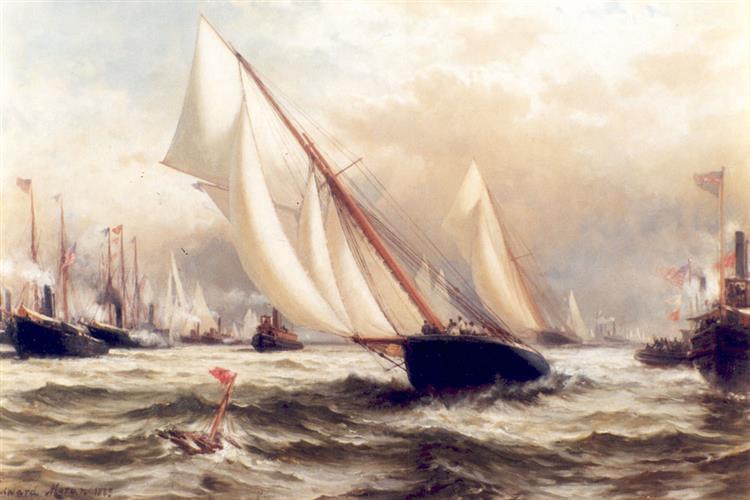 Puritan V Genista, 1885 - Edward Moran