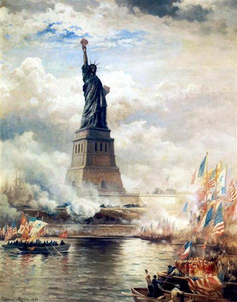 Statue of Liberty Unveiled, 1886 - Edward Moran