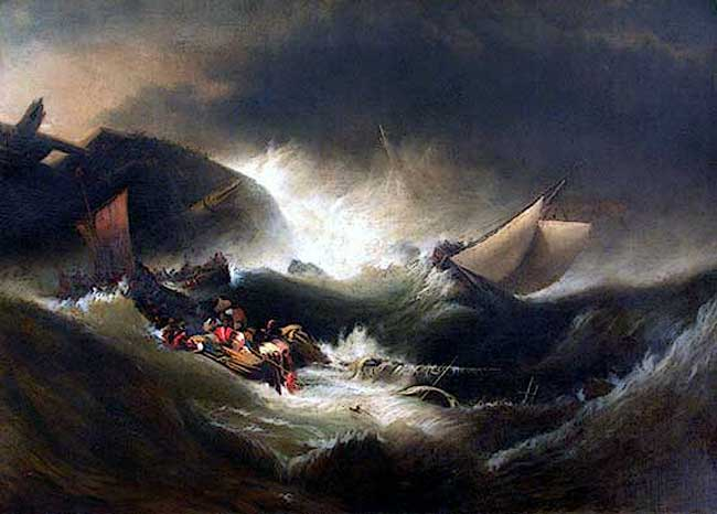 The Wreck, 1861 - Edward Moran