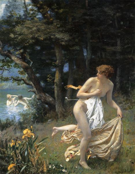 Diana's Maidens, 1898 - Edward Robert Hughes