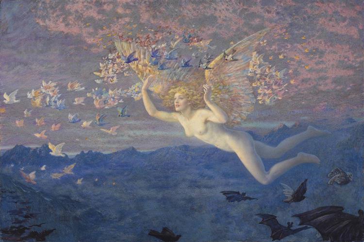 Wings of the Morning - Edward Robert Hughes