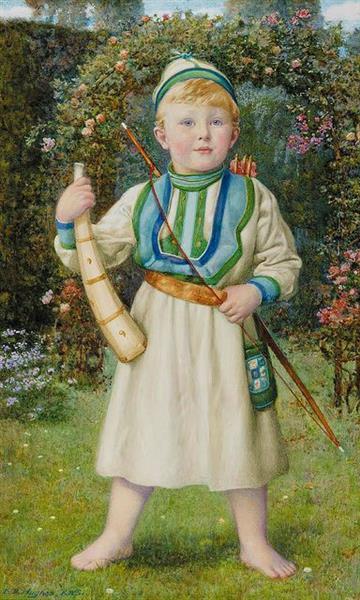 A Viking, Portrait of Harold Norbury - Edward Robert Hughes
