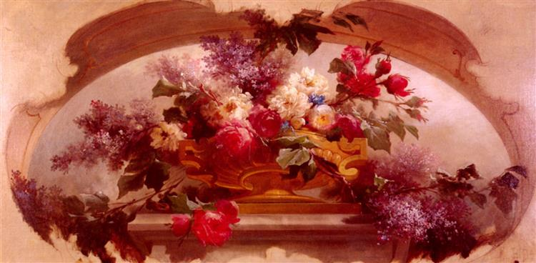 Flowers in a Gilt Vase - Eugene Bidau