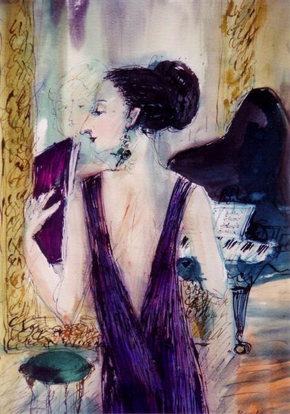 The Pianist (Annie Fischer), c.1993 - Maria Bozoky