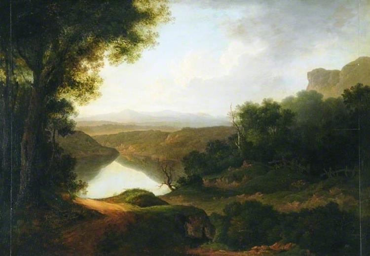 A Lake Scene - George Philip Reinagle
