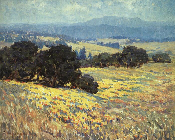 "Len,""california Oaks and Poppies"" - Granville Redmond"