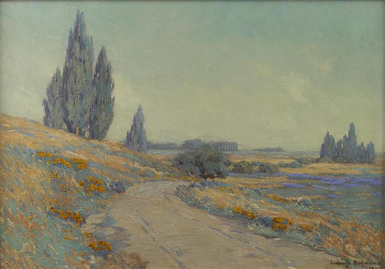 Road Through a Field of Wildflowers - Granville Redmond