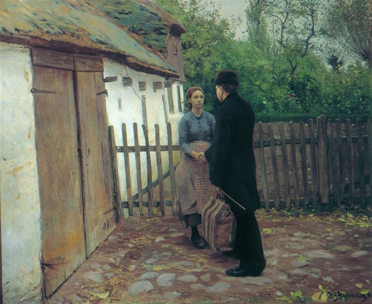 Afskeden, 1890 - Hans Andersen Brendekilde