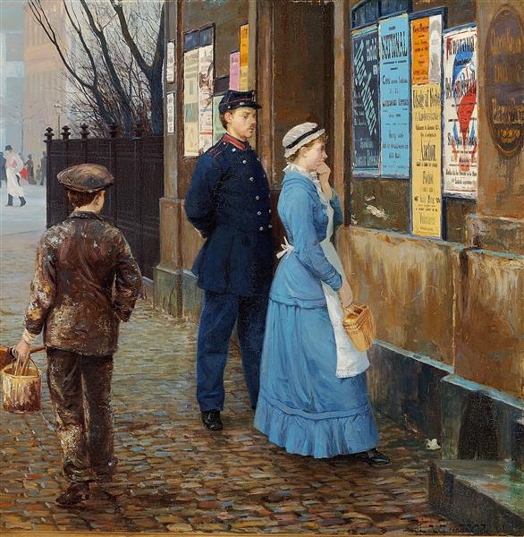 The First of November, 1884 - Hans Andersen Brendekilde