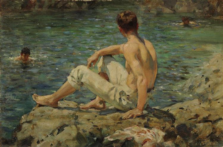 Green and Gold, 1920 - Henry Scott Tuke