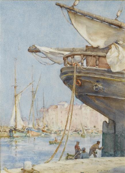 Painting the rudder - Henry Scott Tuke