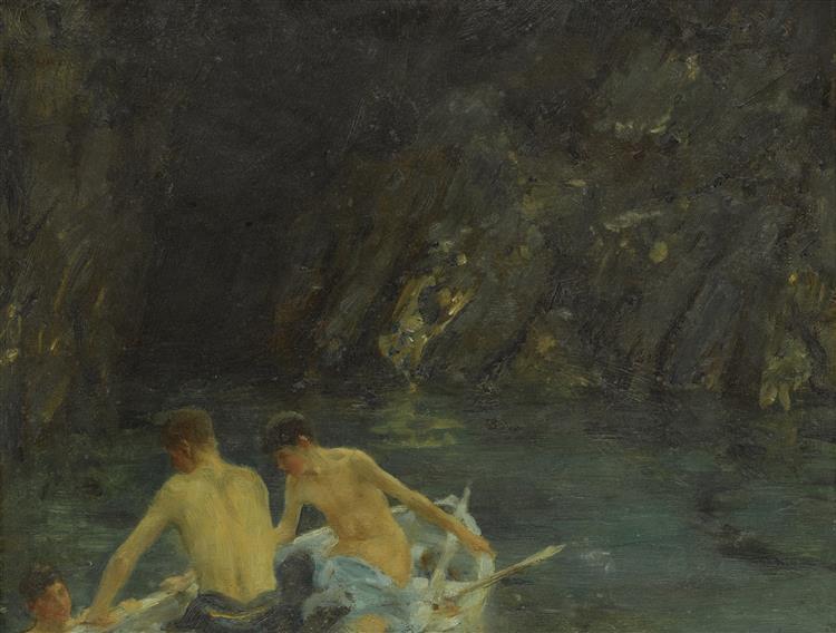"""The Cavern"""" - Henry Scott Tuke"""