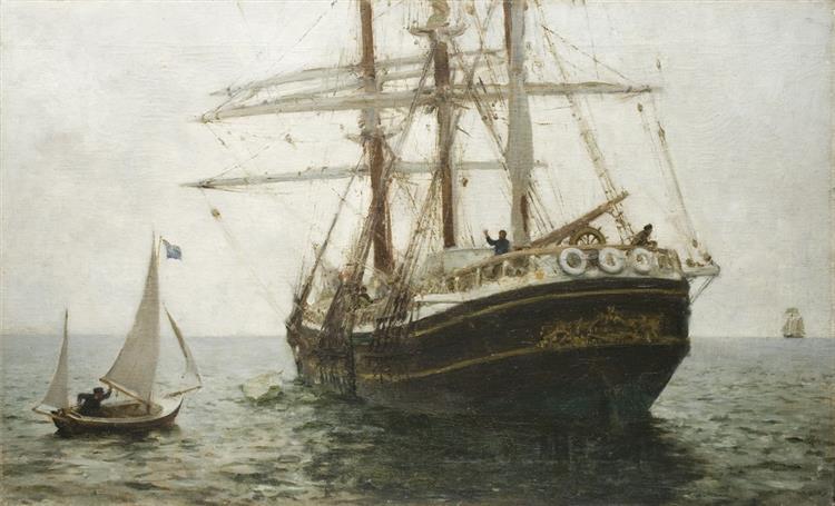 The Missionary Boat - Henry Scott Tuke