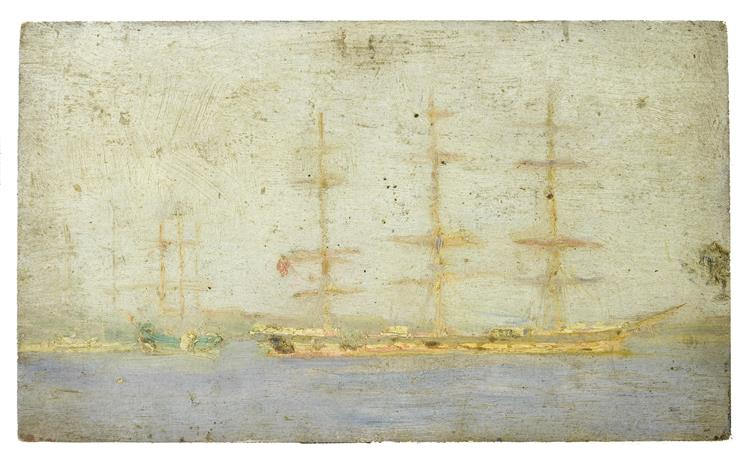 Windjammer in Falmouth Roads - Henry Scott Tuke