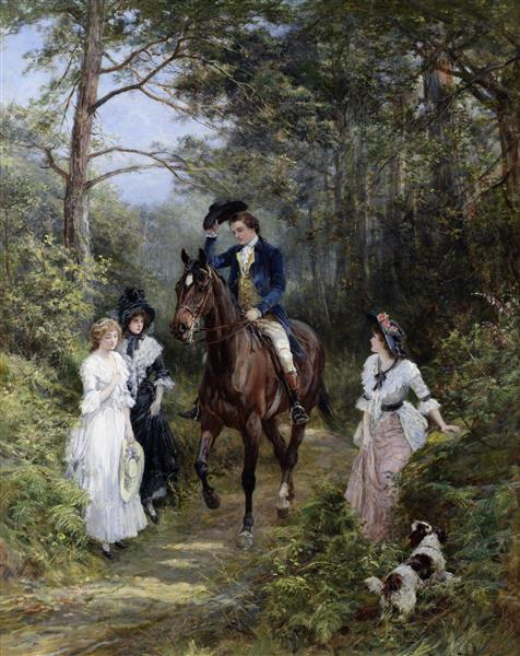 The Meeting in the Forest - Heywood Hardy