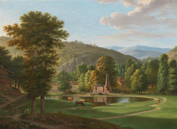 A Southern River Landscape - Jean-Joseph-Xavier Bidauld