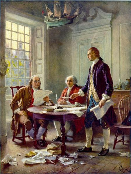 Writing the Declaration of Independence, 1776 - Jean Leon Gerome Ferris