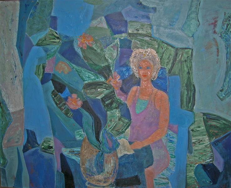 Lady with Flower, 1976 - TAMÁS, Ervin