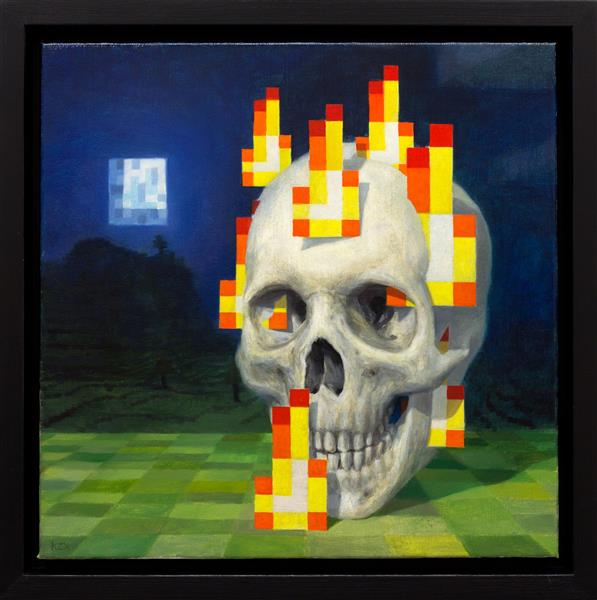 Skull On Fire, 2010 - Kristoffer Zetterstrand