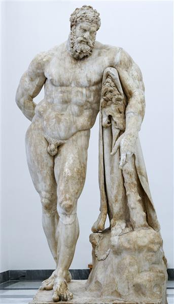 Farnese Hercules, by Glykon, c.100 BC - Ancient Greek Painting and Sculpture