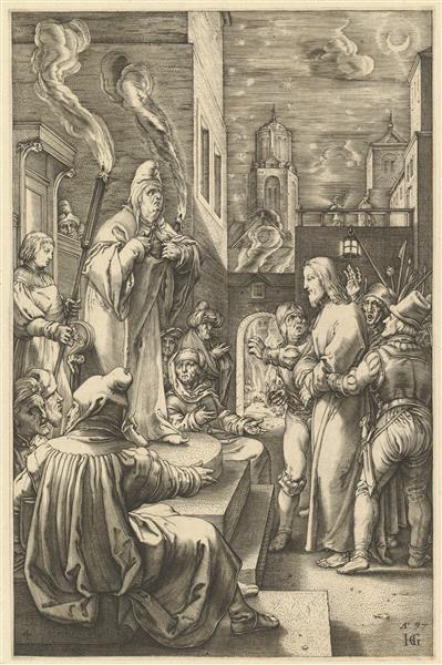 Christ Before Caiaphas, c.1594 - c.1598 - Hendrick Goltzius